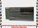 Sony CDP-C245 Compact Disc Player 5 Disc Ex-Change System Compact Disc Digital Audio