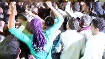 فرحة شباب غزة عند سماع خبر إسقاط طائرة حربية في غزة