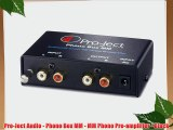 Pro-Ject Audio - Phono Box MM - MM Phono Pre-amplifier - Black