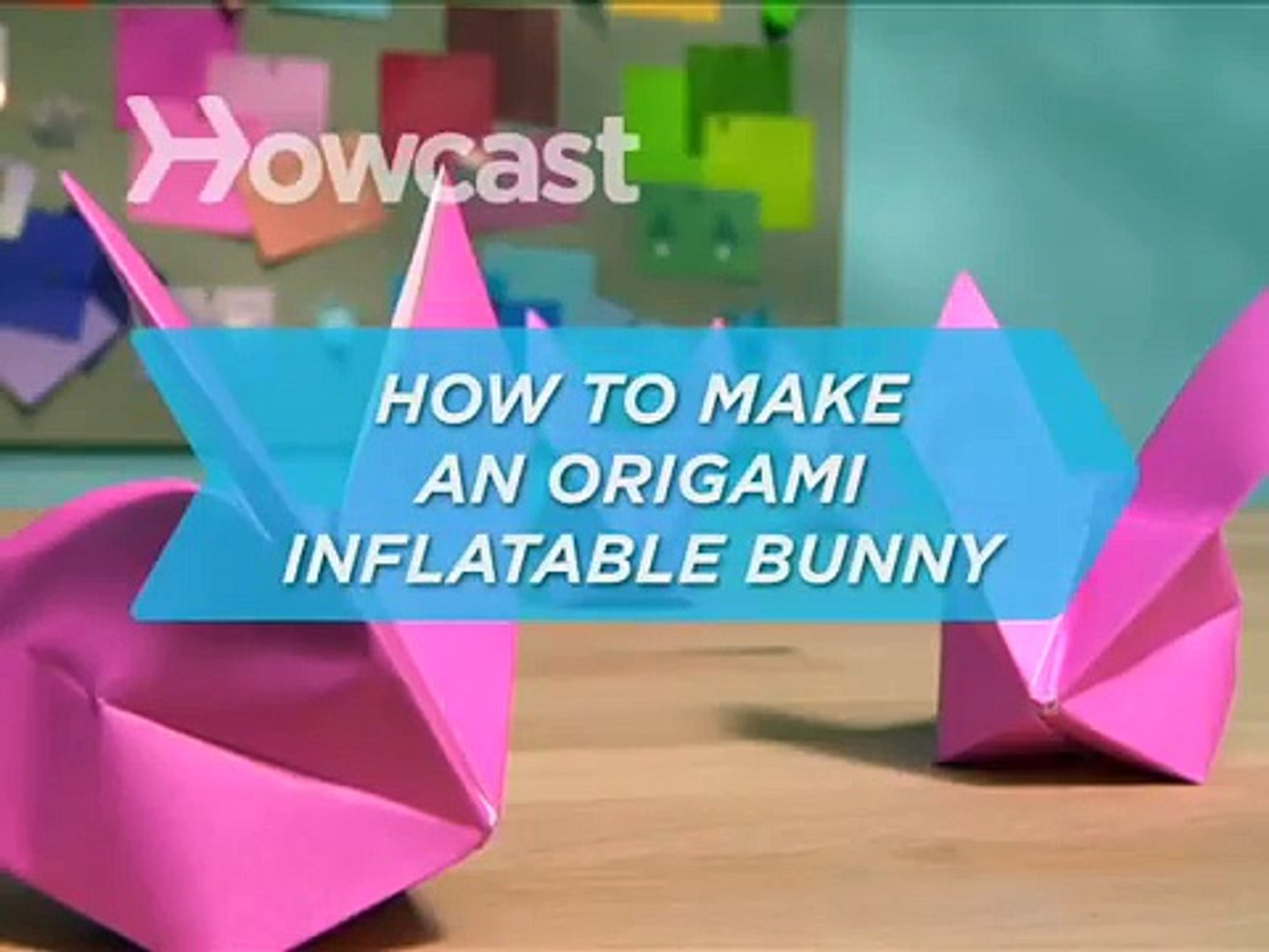 Origami Inflatable Rabbit Folding Instructions | 1080x1440