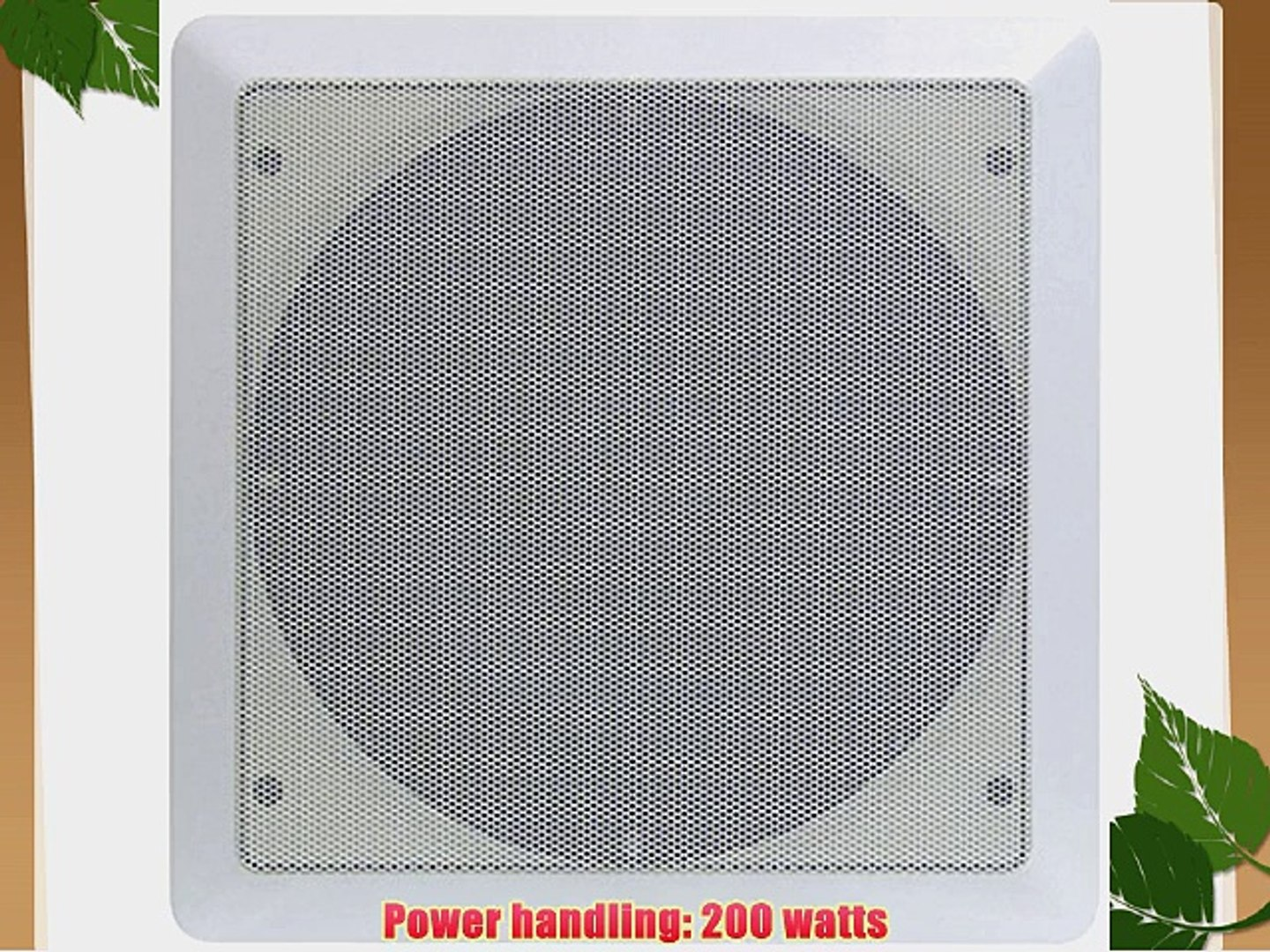 """Pyle PWRC62 6.5/"""" Weather-Resistant Stereo Ceiling Speaker"""