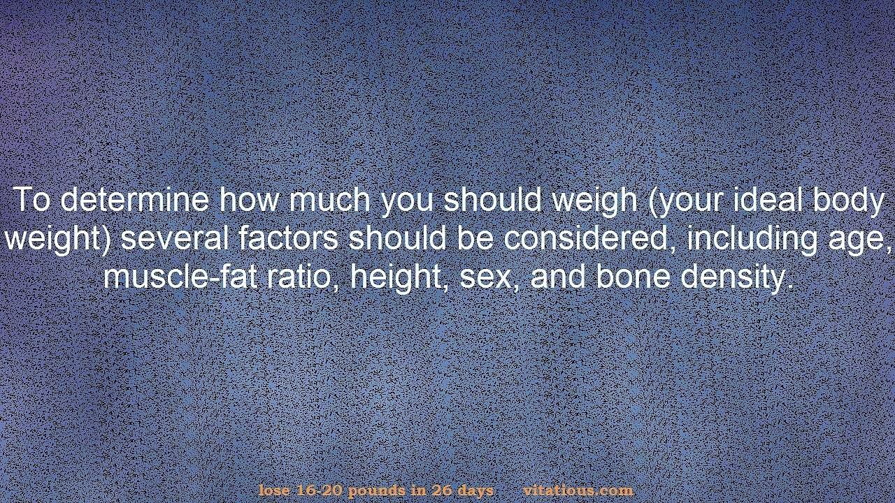 How Much Should I Weigh For My Age and Height