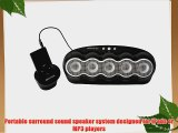 Banshee Audio 5.0 Surround Sound Speaker System for iPods/MP3 Players (Black)