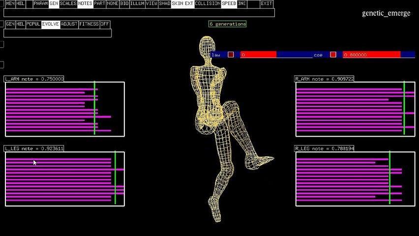 CIGALE : Prototype Algorithme Génétique - Jambes avec contraintes biomécaniques