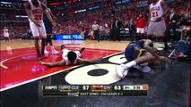 LeBron James Rolls His Ankle _ Cavaliers vs Bulls _ Game 4 _ May 10, 2015 _ 2015 NBA Playoffs