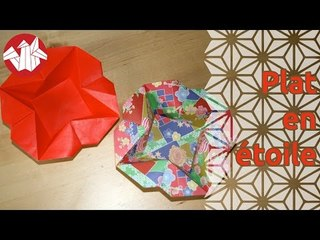 Origami - Plat en étoile - Star Dish [Senbazuru]