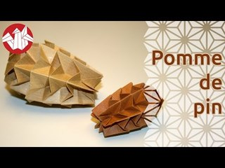 Origami - Pomme de pin - Pine Cone [Senbazuru]