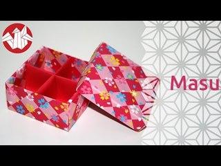 Origami - Boite Japonaise à Compartiments: Masu [Senbazuru]