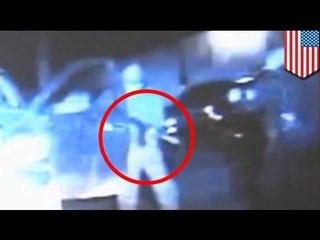 Cámara de auto graba tiroteo con policía