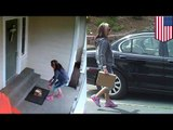 Thief caught stealing packages: Jaguar-driving burglar caught stealing mail on camera: TomoNews