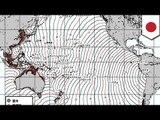チリ大地震で日本に津波到達か
