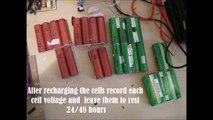 How to make a Li-ion battery for e-bike using dead laptop batteries.