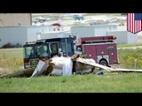Denver plane crash: Piper PA-46 crashes shortly before landing, killing five people and a dog