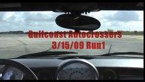 MINI Cooper S autocross with crash Ft. Myers 3/15/09 Run 1!