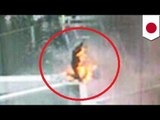 Japanese man sets self on fire at Shinjuku Station, Tokyo, in self immolation protest