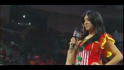 Rosa Mendes Kiss  Adam Rose wwe raw 4 27 15