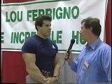 Pat interviews Lou Ferrigno for TV program