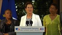 Discours de Mme Ségolène Royal devant la communauté française à la Havane. #CubaPR