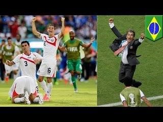 ЧМ-2014: Коста-Рика удивила Италию, а Португалия избежала поражения в последнюю минуту
