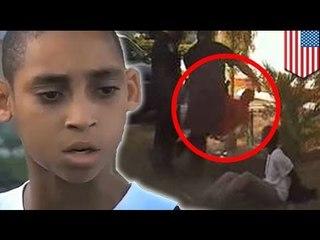 Полицейский во Флориде сбил с ног 13-летнего мальчика
