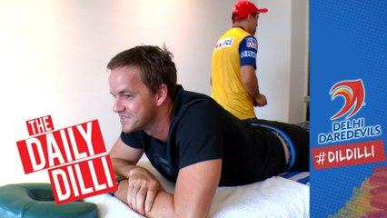 GAME DAY DD v CSK: Behind the scenes with the Physio  |  THE DAILY DILLI 44 #DILDILLI
