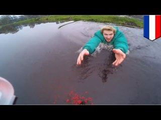 荷蘭男為救遙控飛機跳落水