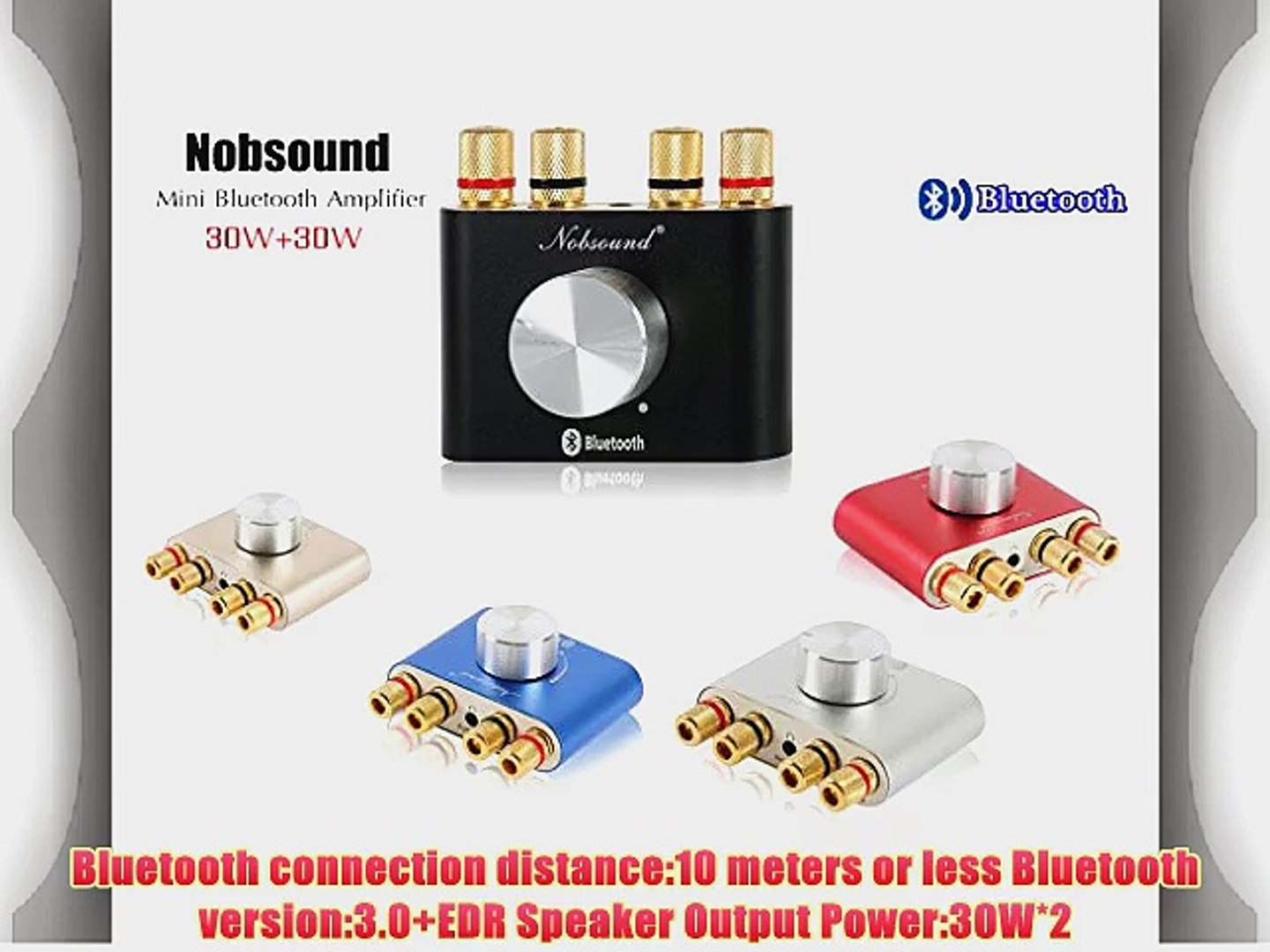 Nobsound? Mini Stereo Hifi Bluetooth Power Amplifier Audio Headphone AMP  with Power Supply