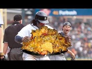 Prince Fielder ng Detroit Tigers, kinain ang nachos ng fan sa gitna ng laro