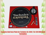Technics Red Face Plate for Technics SL-1200 / SL-1210 MK5 M3D Turntables
