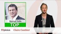 Le Top Flop: Manuel Valls effectue un bond de popularité de 8 points / François Rebsamen cède aux féministes et amendera sa loi sur le dialogue social
