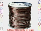 Coleman Cable 94605 Speaker Cable CL3 Wire Clear 500-Feet 16/2-Gauge