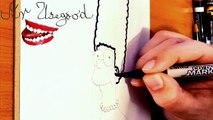 How to draw Marge Simpson Easy | The Simpsons characters | SPEED ART | Cool Easy stuff