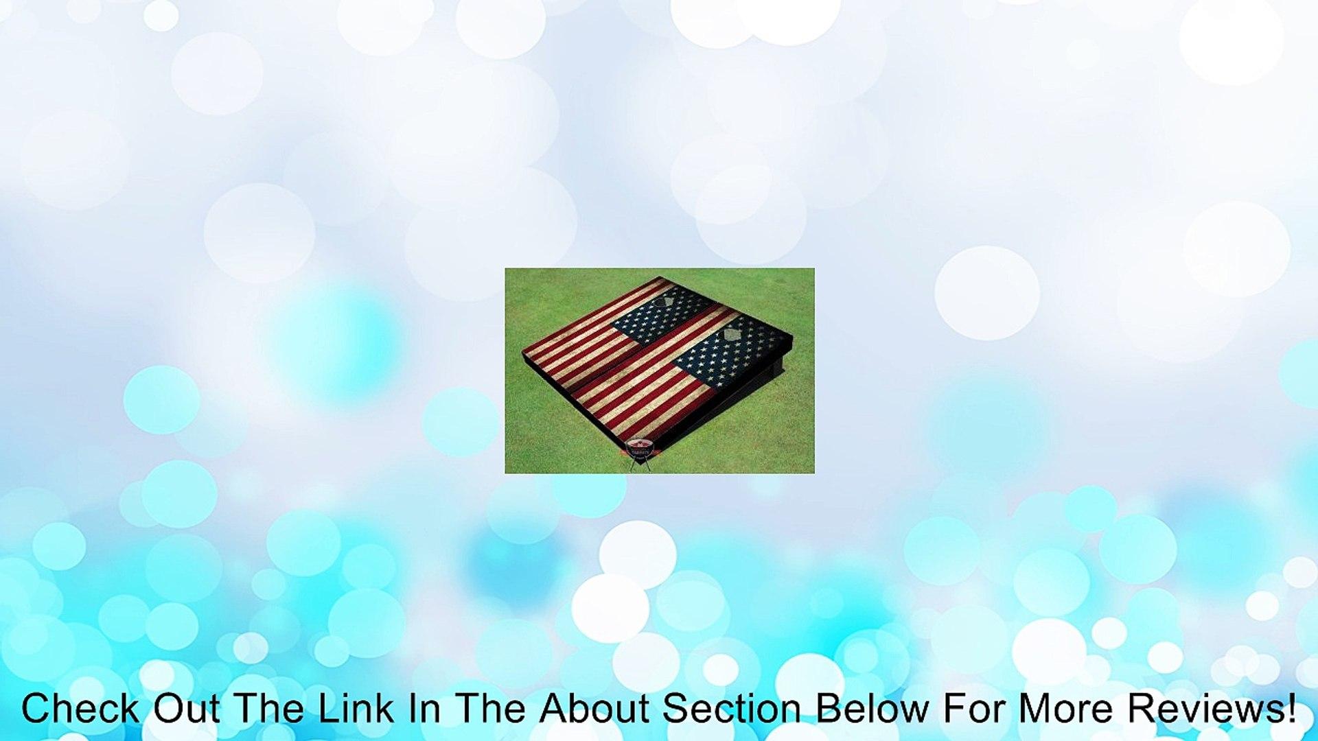 American Flag Theme Corn Hole Boards Cornhole Game Set Review