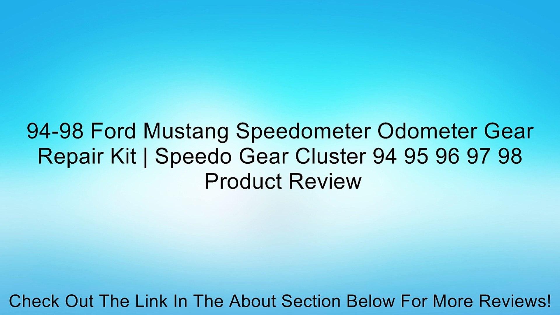94-98 Ford Mustang Speedometer Odometer Gear Repair Kit | Speedo Gear  Cluster 94 95 96 97 98 Review