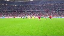 INSIDE THE BAYERN ARENA: FC Barcelona's pitch celebrations