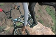 BMX STUNTS- (Blindfold) 61 Year old Indian Performs Extreme Yoga with his Bmx on Cliff Edges