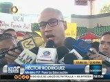 Rodríguez: No hay ninguna razón para que los profesores vayan a paro