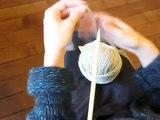 Cours de tricot 1 - Montage simple des mailles