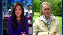 """Santos Canalla"" Entrevista a Uribe despues de Insultar a Santos"