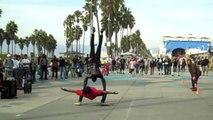 Venice Beach Street Performers, The Calypso Tumblers - Amazing!
