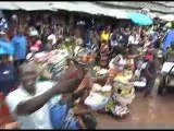 le President de la Republique au Marché Madina de Conakry ( le Plus Grand Marché)