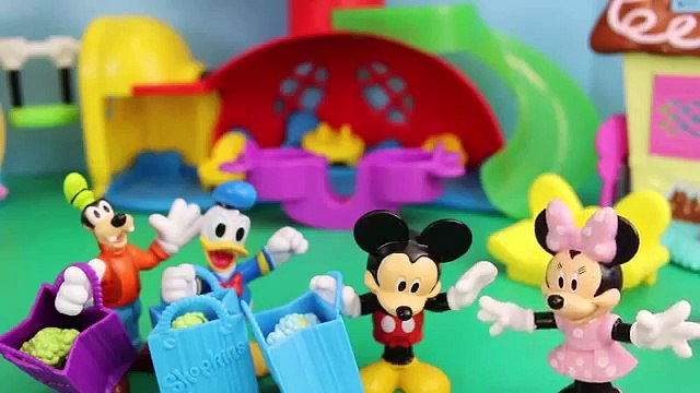 Mickey Mouse with Peppa Pig Shopkins Minnie Mouse Daddy Pig and Donald Duck in Hi Ho Cherry o Game