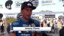 WSL - Oi Rio Pro : Interview Jérémy Florès (Round 1)