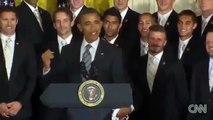 Obama jokes with David Beckham about Underwear Ads
