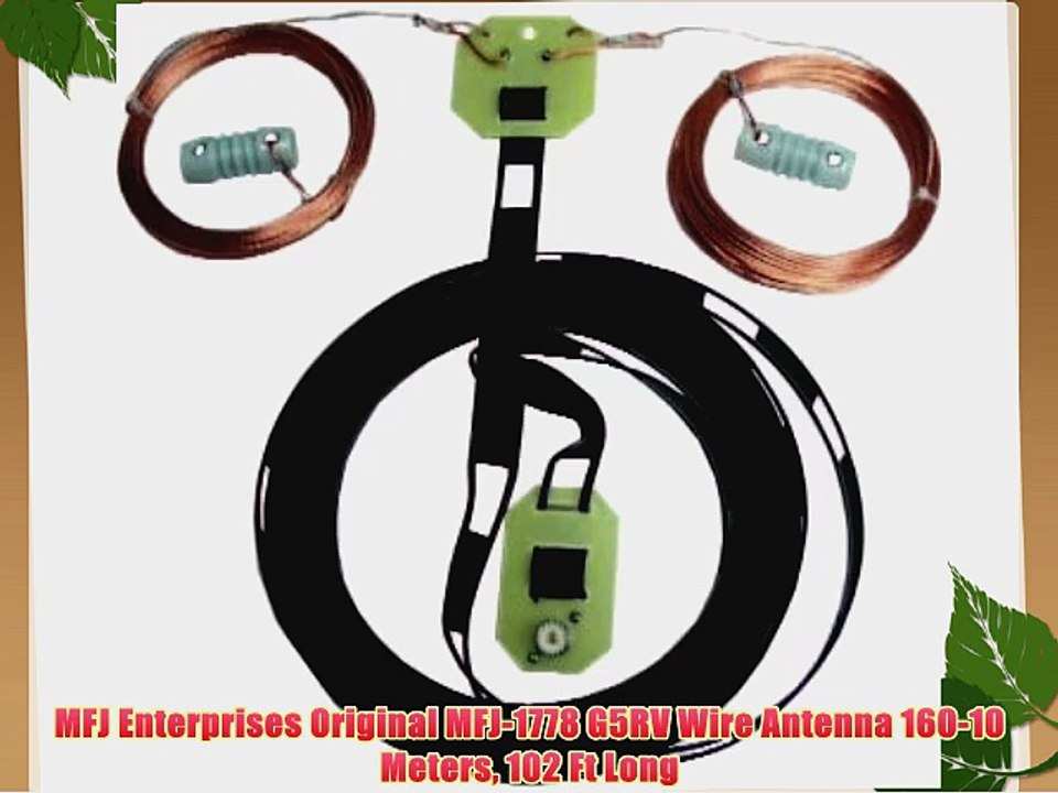 MFJ Enterprises Original MFJ-1778 G5RV Wire Antenna 160-10 Meters 102 Ft  Long