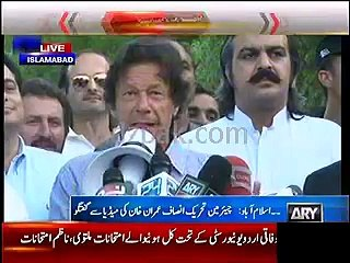 KPK government has decided to regularize you :- Imran Khan to protesters outside Banni Gaala residence