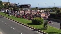 Giro d'Italia 2015- Un spectateur s'incruste avec son vélo et fait tomber le peloton