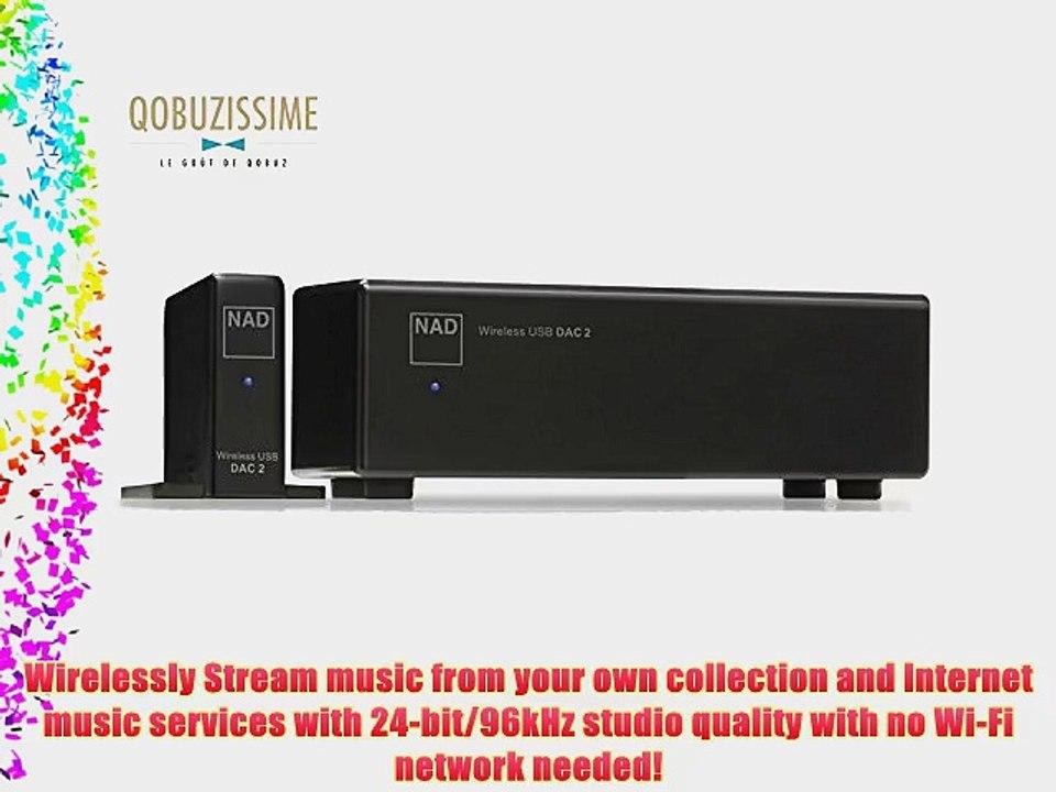 NAD DAC 2 Wireless 24Bit/192kHz USB Digital-to-Analog Converter