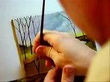 "Landscape Painting - ""A Calm River"" Painting Demo Lesson"