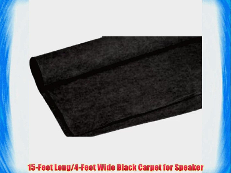 Absolute C15BK 15-Feet Long/4-Feet Wide Black Carpet for Speaker Sub Box Carpet rv Truck Car